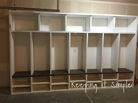 mudroom locker plans diy diy garage mudroom lockers with lots of storage keeping