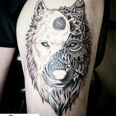 yin yang wolf tattoo best wolf to howl at the moon top 161 of all time