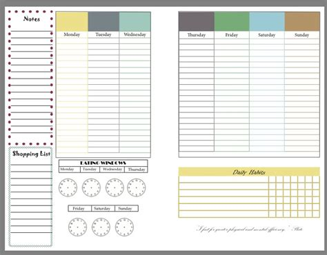 Printable Diet And Exercise Planner | intermittent fasting diet and fitness planner