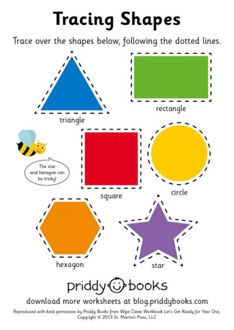 free printable learning shapes free shape tracing worksheets for preschoolers 2014 free