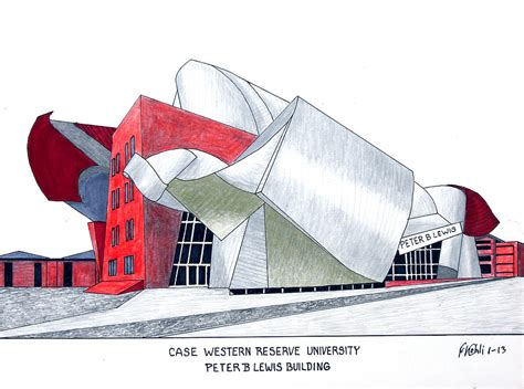 Western Weatherhead Mba by Western Reserve Drawing By Frederic Kohli