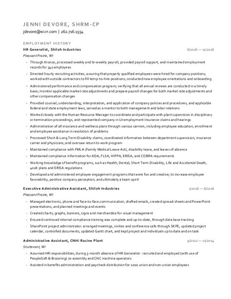resume for hr generalist position 28 images human