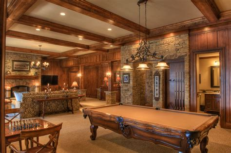 rustic family room gabriel builders rustic family room other metro by