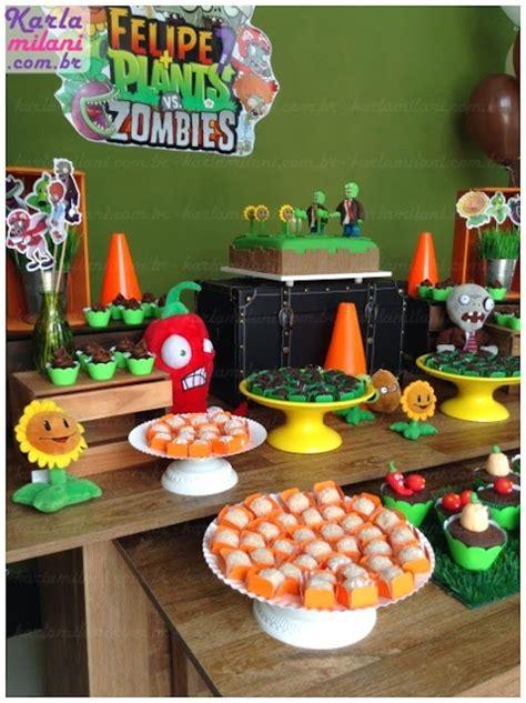 zombie themed birthday party kara s party ideas plants vs zombies themed birthday
