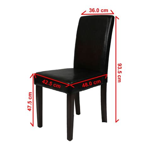 Black Faux Leather Dining Room Chairs 2 Black Faux Leather High Back Dining Room Chairs Buy Sets Of 2