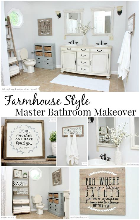 Seashell Bathroom Ideas Farmhouse Style Bathroom Makeover Love Of Family Amp Home