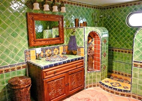 Mexican Tile Bathroom Ideas Bathroom Using Mexican Tiles Tile Designs Pinterest