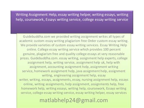 College Essay Writing Service by Welcome To Cdct
