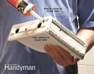 how to install a corner shower shelf the family handyman