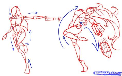 how to draw poses how to draw fighting poses step by step figures