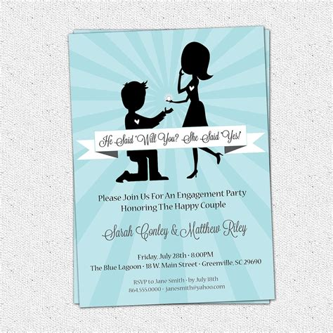 engagement invitation card template engagement invitations engagement invitation