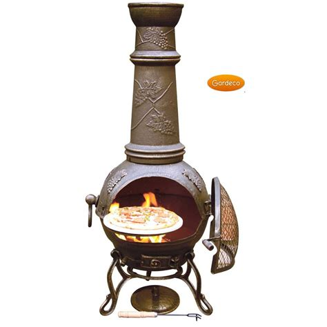 chiminea at toledo grapes flowers cast iron chiminea