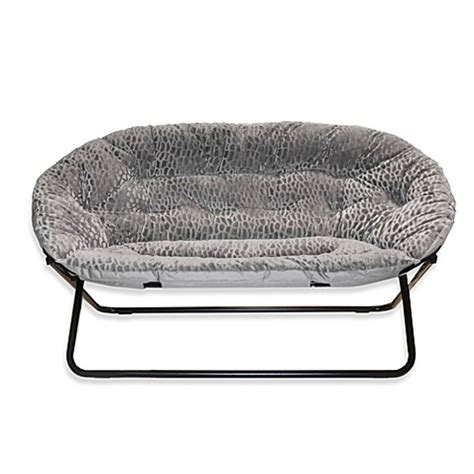 bed bath and beyond chairs buy idea nova double saucer chair in grey from bed bath