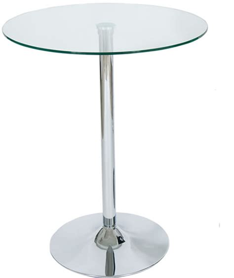 Glass Bistro Table Bar Kitchen Poseur Tables Exhibition Tables Glass Tables Adjustable Poseur