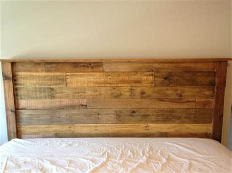 Diy King Size Headboard Diy King Sized Pallet Wood Headboard Pallet Furniture Diy