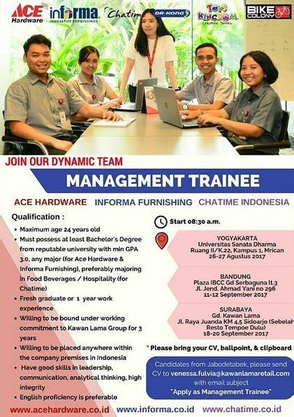 management trainee kawan  group