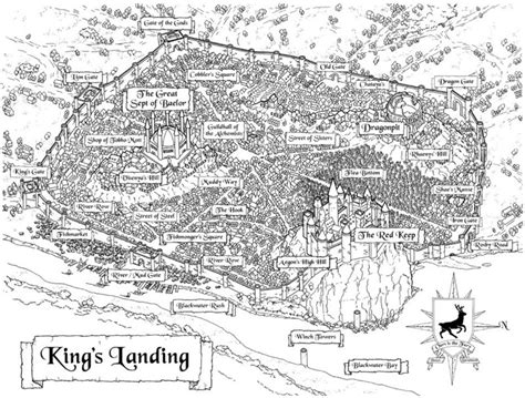 map layout for game of thrones king 180 s landing a song of ice and fire photo 23247937