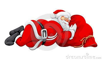 sleeping santa clipart clipart suggest