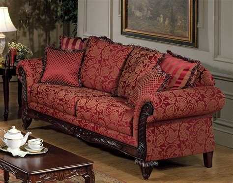 Modern Formal Dining Room Sets red fabric traditional sofa amp loveseat set w optional chaise