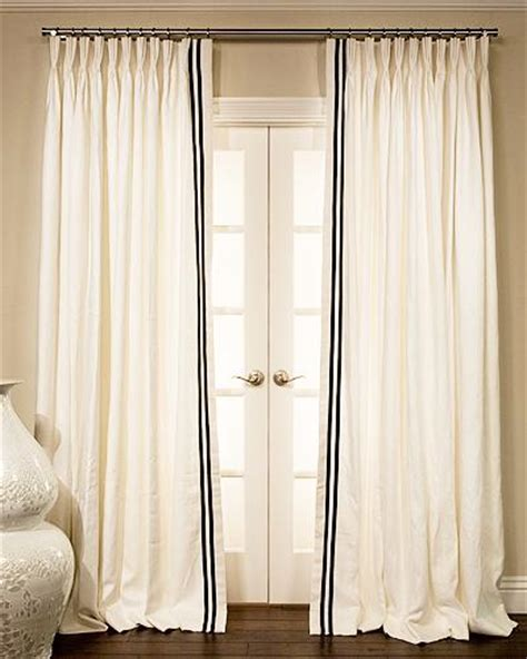 custom linen drapes ribbon trimmed estate linen custom drapery sale in