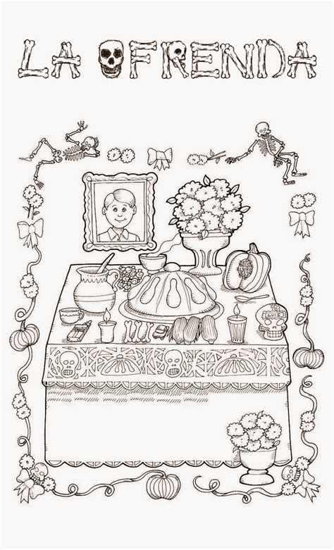 imagenes para colorear ofrendas dia muertos pinto dibujos noviembre 2013