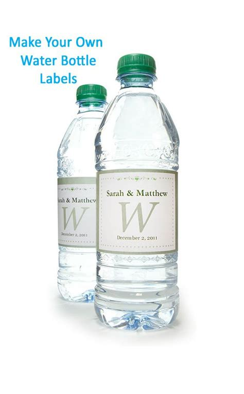 water bottle label design your own 117 best images about printables and templates on