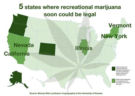 kansas marijuana laws recreational vs medical legalization researcher forecasts next 5 states likely to ok