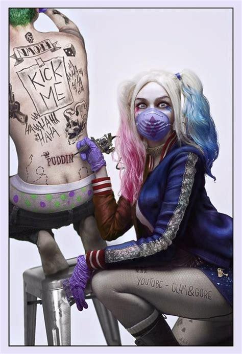 imagenes de joker girl suicide squad harley quinn margot robbie tattoos