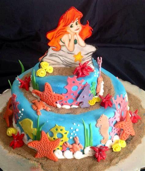 como decorar un pastel de la sirenita ariel pastel de la sirenita little mermaid cake tortas
