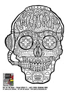 skull coloring pages for adults gamer sugar skull free printable coloring page