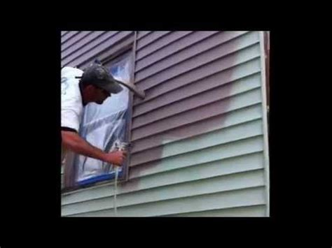 how to paint vinyl siding on my house painting vinyl siding ugly green house youtube