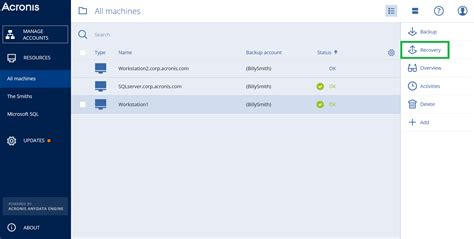 acronis console acronis backup cloud how to restore files knowledge base