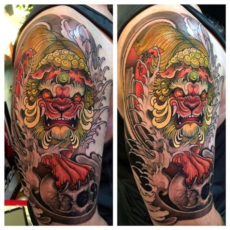 japanese lion tattoo 121 best images about foo on s
