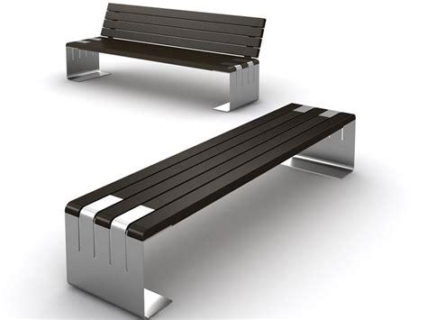 panchine pubbliche panchina in legno e acciaio incontro lab23 smart