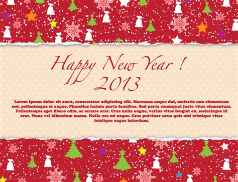 free new year greeting card design happy new year 2013 greeting card design free vector