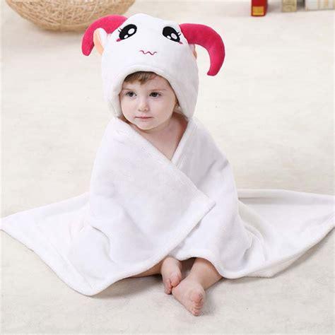 Selimut Baby Hoodie Blanket white flannel aries baby hoodie blanket n10383