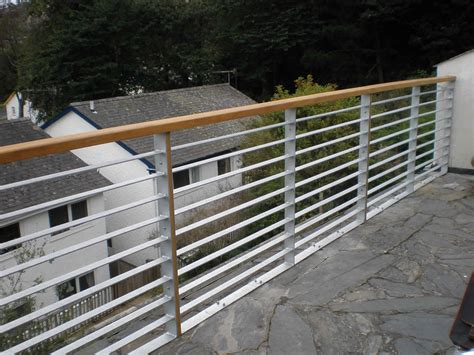 Metal Balustrade Steel Balustrade Galvanized Steel Slatted Railings