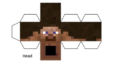 Minecraft Steve Papercraft Template - steve minecraft papercraft and