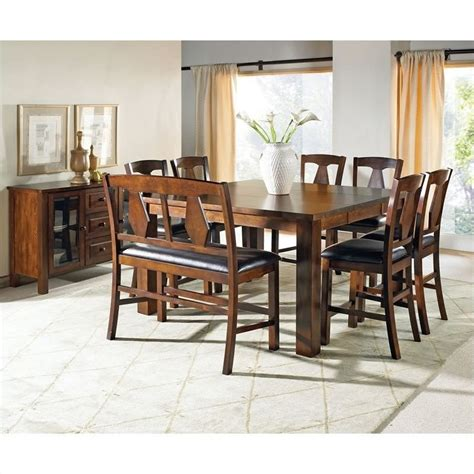 Steve Silver Company Lakewood Square Rectangular Counter Height Steve Silver Company Lakewood 9 Counter Height Dining Set Ebay