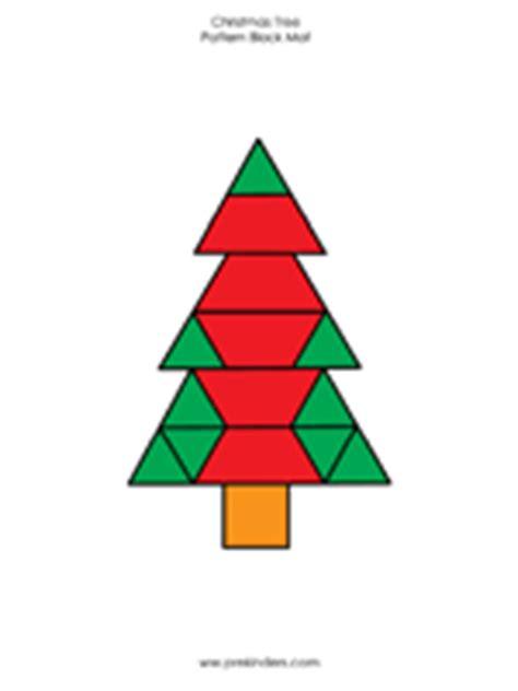 christmas tree block pattern heritage homeschool christmas pattern blocks activity