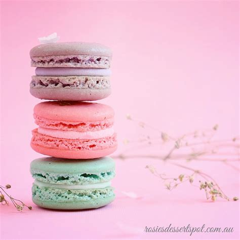 Cake Decorating by Assorted Pastel Macarons With Gold Leaf Rosies Dessert Spot