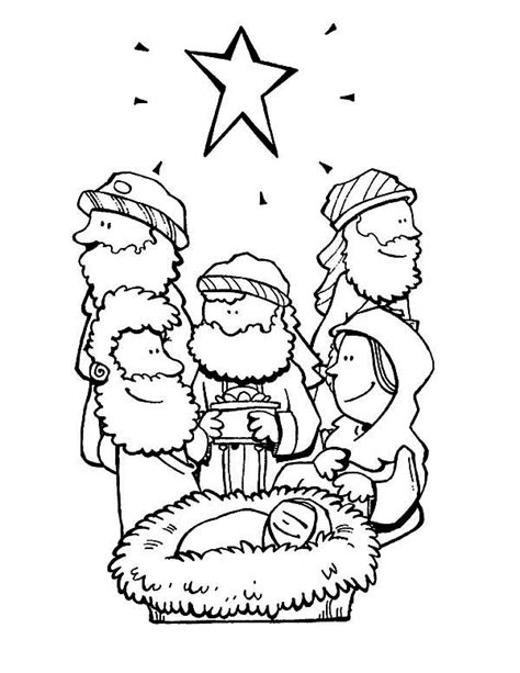 3 Wise Coloring Page