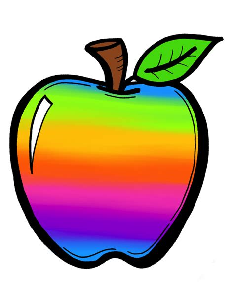 apple clipart the creative chalkboard free rainbow apples and new