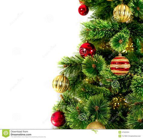 white decorated tree decorated tree on white background stock photo