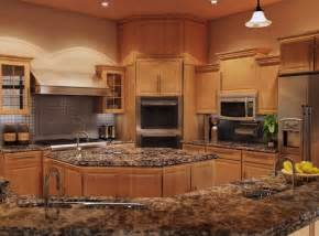 Kitchen Countertops And Cabinets by Kitchen Quartz Countertops With Oak Cabinets Quartz