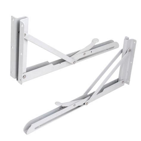 folding bench brackets 2 pcs lot white metal release catch support bench table