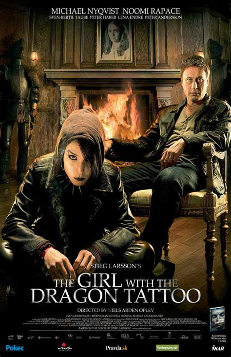 girl with the dragon tattoo film the with the posters from