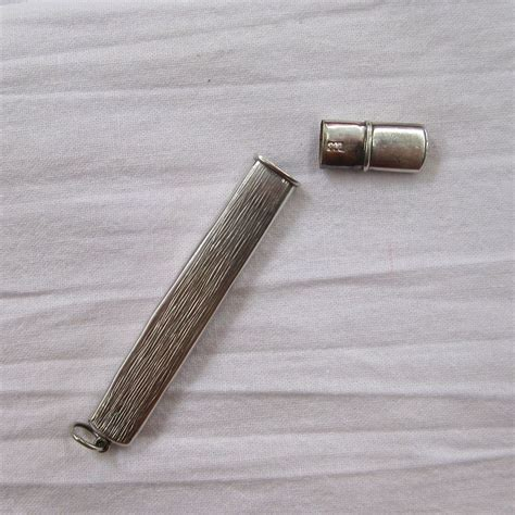 pocket toothpick holder silver 800 match safe pocket knife and toothpick