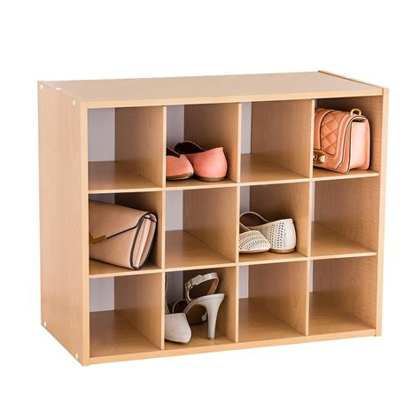 shoe organizer natural 12 pair shoe organizer the container store