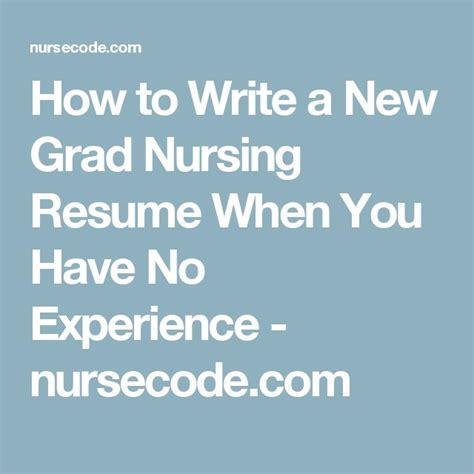 How To Write A Nursing Resume New Grad by 25 Best Ideas About Nursing Resume On Rn